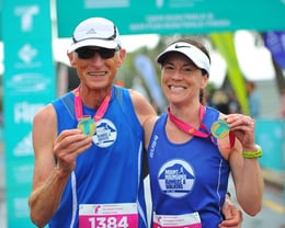 1st in their age groups. Tauranga Int marathon
